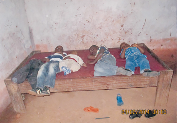 The Ndekesha Orphans sleep 5 to a bed - DR Congo