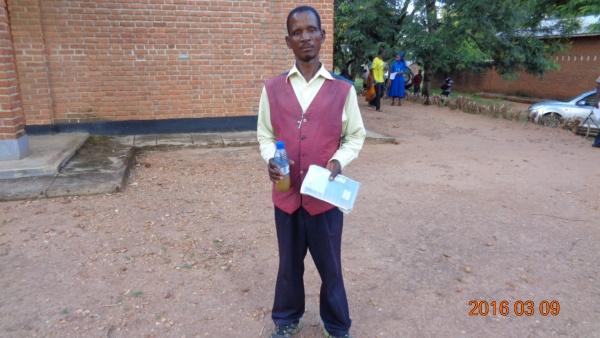 Joseph Fiacara Mwenebabu, participant of St. Steven\'s training - Malawi