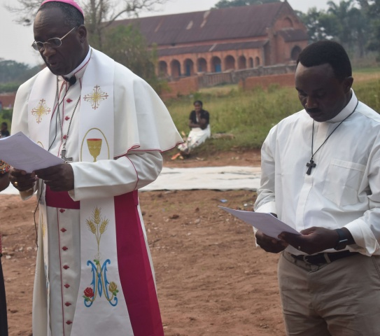 Bishop Celestin with Fr. Donatien