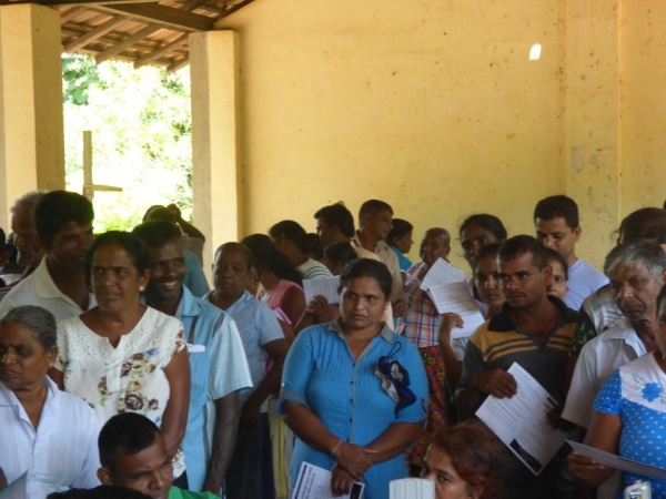Sri Lanka Medical Mission - waiting patients - Giribawa