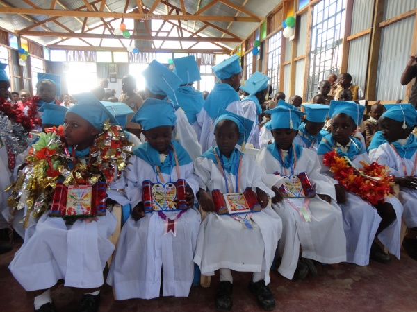 Good Shepherd Academy kindergarten graduates - Kenya