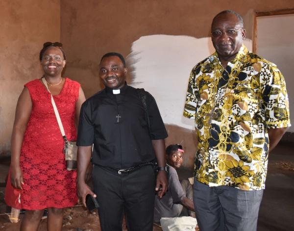 L-R: Ide (CWM partner), Fr. Donatien, Bishop Pierre Celestin