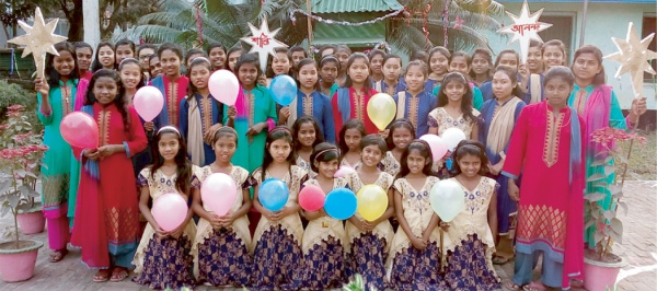 Bangladesh - More thanks from the girls of Bottomley Home, here showing off their new Christmas dresses