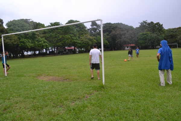Playing soccer at Farm of the Child - Honduras
