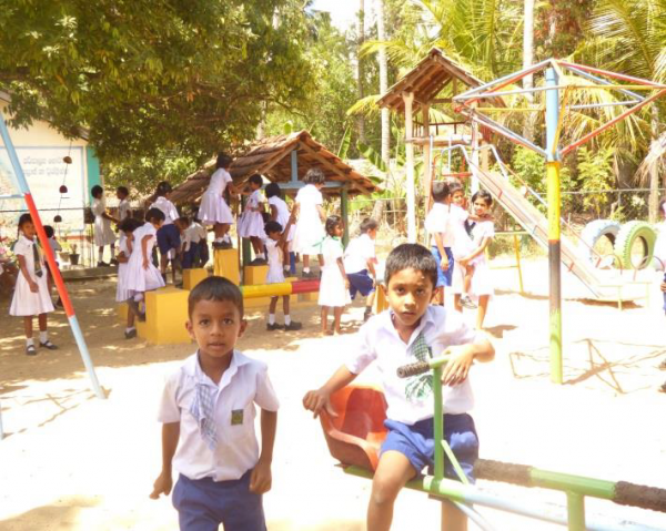 Local children the Holy Angel Sisters will teach - Sri Lanka