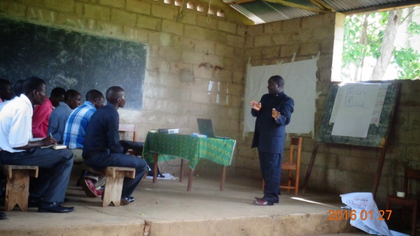 Fr. Alick Sikwese training on obligations of the laity - Malawi