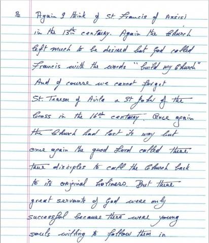 Msgr. Marren\'s letter - page 2