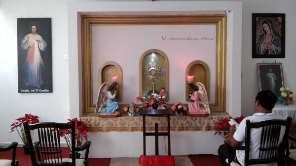 2 of 5 adoration chapels Fr. James built in Playa del Carmen, Mexico - Divina Misericordia Adoration Chapel