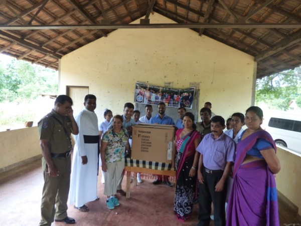 Sri Lanka Medical Mission - the village clinic received a photocopier - Giribawa