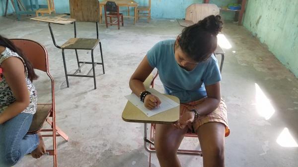 Children learning math at St. Peter\'s Catholic School - Honduras