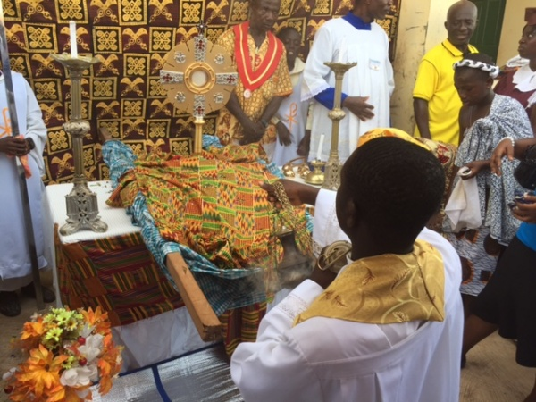 Eucharistic procession to celebrate the Solemnity of Christ the King - Enchi, Ghana