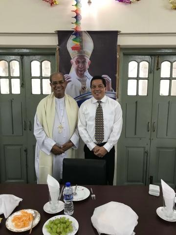 Bangladesh - Deacon Rick Medina with Cardinal D\'Rozario