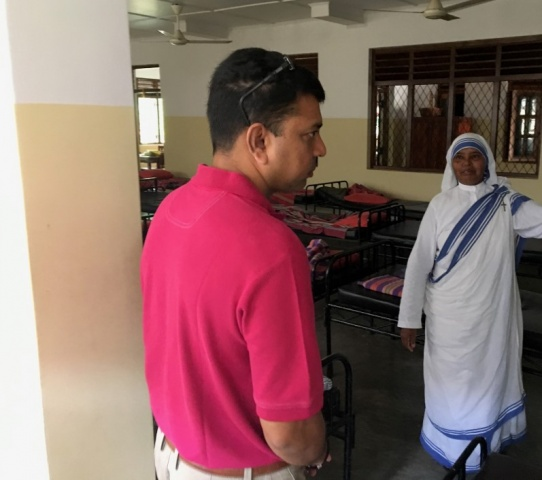 Sri Lanka Medical Mission - Dr. Roshan chats with a sister - Missionaries of Charity convent