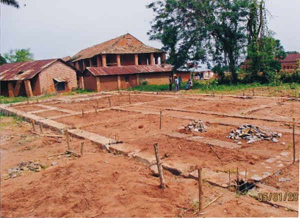 Progress of construction at Ndekesha Orphanage