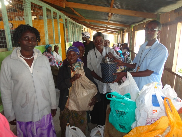 Elderly receiving support from the brothers - Kenya