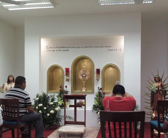 3 of 5 adoration chapels Fr. James built in Playa del Carmen, Mexico - Sagrada Familia Adoration Chapel
