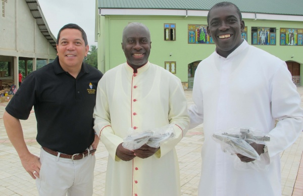 Deacon Rick, Msgr. Simon, Fr. Anthony - Deacon Rick\'s trip - June 2018