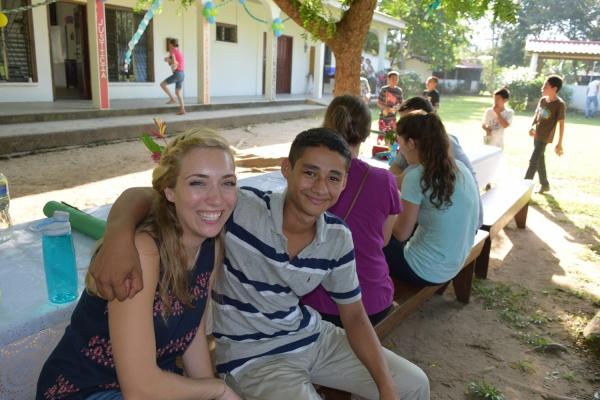 Welcome ceremony - Farm of the Child - Honduras