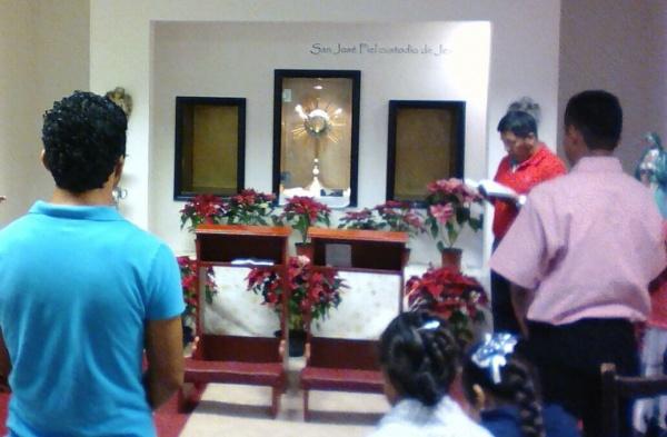 4 of 5 adoration chapels Fr. James built in Playa del Carmen, Mexico - San Jose Obrero Adoration Chapel