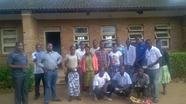 Young people from Thyolo attending the training - Malawi