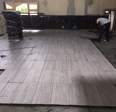 Laying tile - April 2018