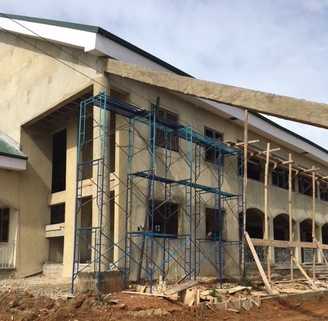Exterior progress - March 2018