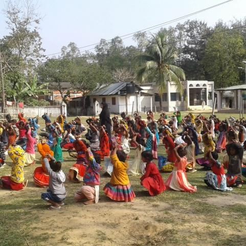 Bangladesh - Morning stretches