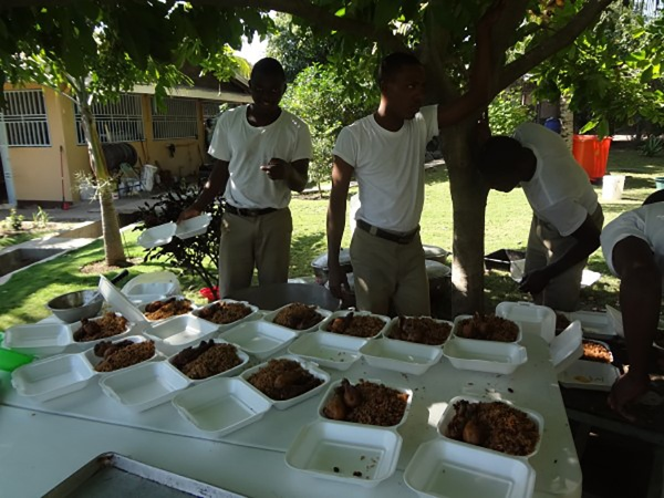The missionaries feed over 200 people a day!