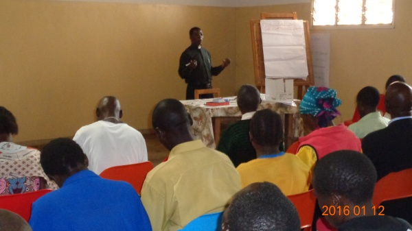 Fr. Denis Chitete giving a presentation on Christian leadership - Malawi