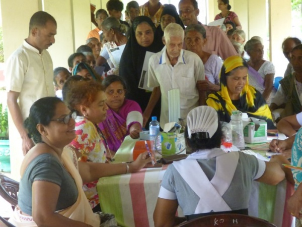 Sri Lanka Medical Mission - 755 patients were seen during the trip - Giribawa