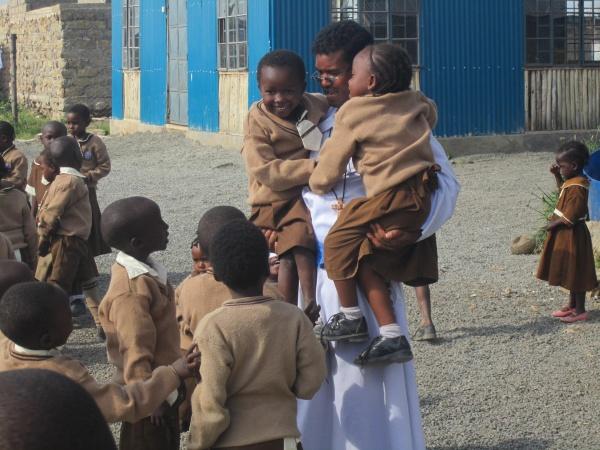 Good Shepherd Academy students playing - Kenya