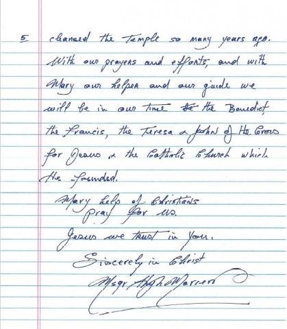 Msgr. Marren\'s letter - page 5