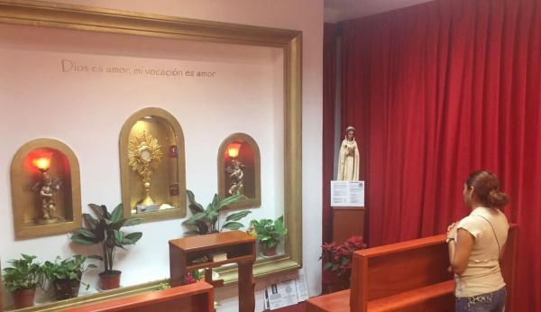 5 of 5 adoration chapels Fr. James built in Playa del Carmen, Mexico - Santa Teresita Adoration Chapel