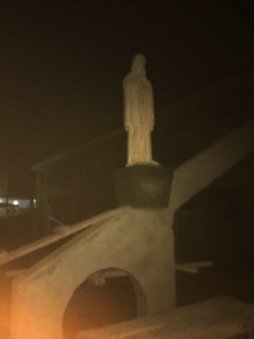 Ghana - Newly donated statue of the Blessed Mother arrives at night, February 2018