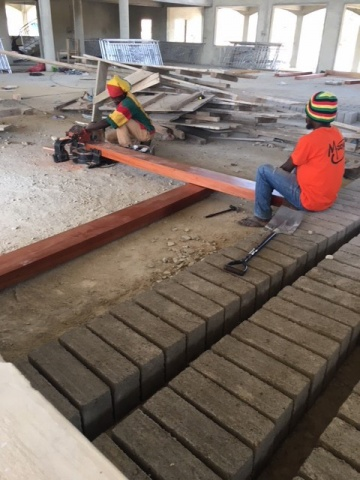 Ghana - crews install new railings, February 2018