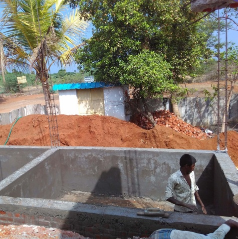 Thambipuram, India - Another shot of the foundation