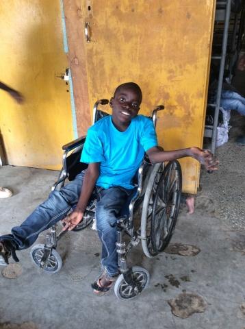 Steven, an orphaned child - Kenya