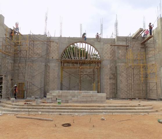 Playa del Carmen, Mexico - construction continues on Corpus Christi parish