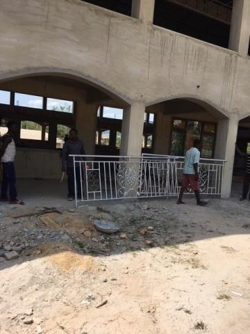 Ghana - new railings arrive, February 2018