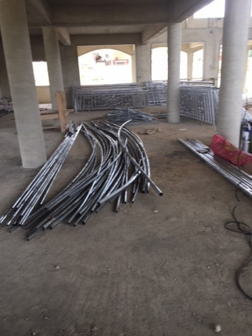 Ghana - new railings arrive, February 2018