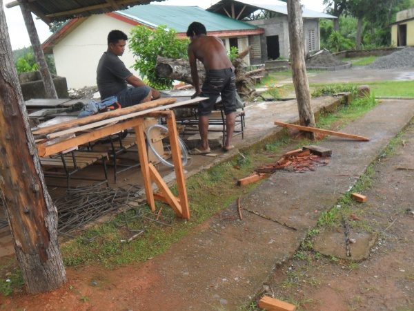 Reconstruction begins at Agtatacay Notre Elementary - Philippines