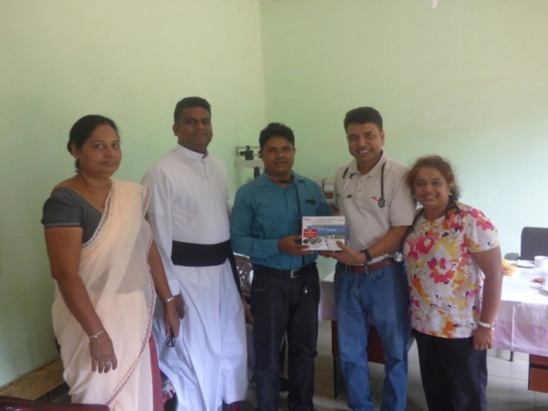 Sri Lanka Medical Mission - blood pressure monitors were among the donations given to the clinics - Giribawa