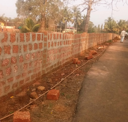2018 - Wall Construction at MSFS Seminary in Bastora, India
