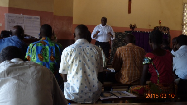 Monsignor Chitete teaching on Christian leadership - Malawi