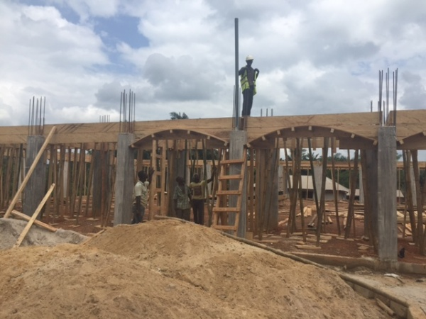 Ghana - pillars and arches go in, June 2016