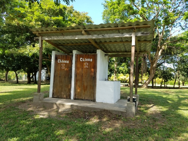The school bathrooms at Farm of the Child - Honduras