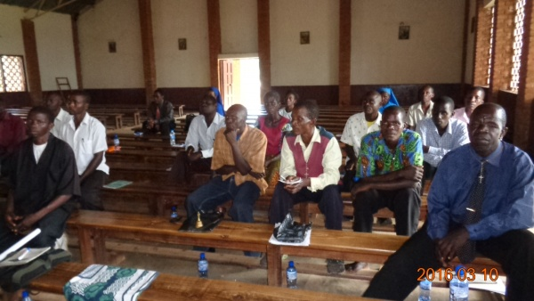 Sitting through training session - Malawi