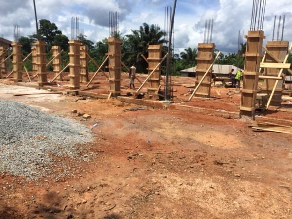 Ghana - construction begins! May 2016