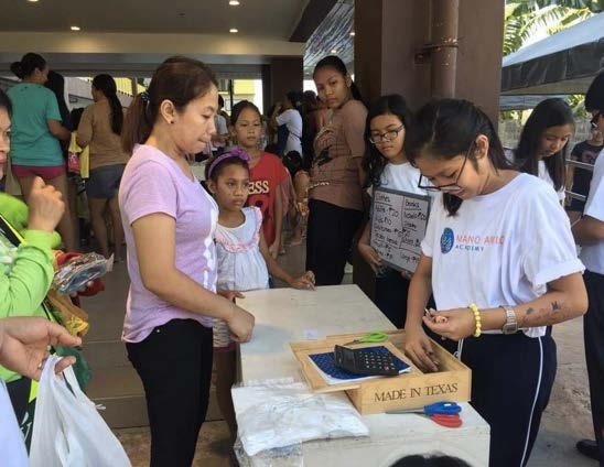 MA Philippines - by hosting this garage sale, MA students raised nearly 8,000 pesos for Autism Society Philippines