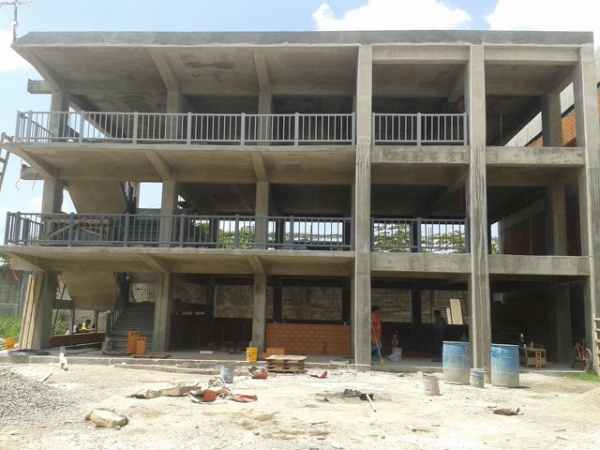 Mano Amiga Tapachula High School construction in process